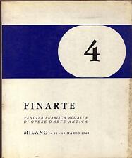 FINARTE 4 / 1963 - vendita pubblica all'asta di opere d'arte antica