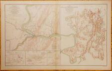 AUTHENTIC CIVIL WAR MAP ~ HARPER'S FERRY, VIRGINIA - 1863
