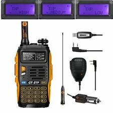 Baofeng GT-3 TP MarkIII Tri-power 1/4/8W UHF/VHF Talky Walky+Haut Parleur+Cable