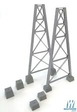 4555 Walthers Steel Railroad Bridge Tower Bent 2-Pack Trestle HO Scale Kit
