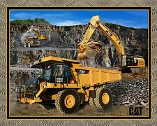 "CATERPILLAR CAT BUILDING ROADS  35""x 44"" 100% COTTON FABRIC PANEL  CONSTRUCTION"