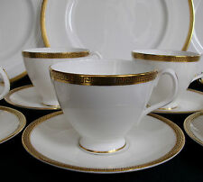 ROYAL ALBERT GREEK KEY (c.1960-70's)- CUP & SAUCER (S)- RARE! EXCELLENT! GILT!