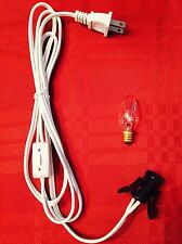 Salt Selinite Electric Lamp Cord And Bulb C7 15W E12 Socket Lighting Lamp Cable