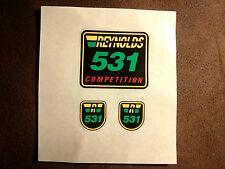 Reynolds 531 Competition Decals Aufkleber Set Rahmen & Gabel original kein repro