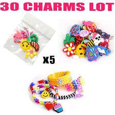 charm charms lot de 30 pendentif pour le jeu de bracelet rainbow loom band kit