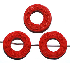 China Lackperle Chinalack Cinnabar rot Ring 20 mm, 1 Stück