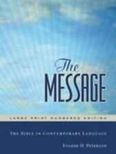 The Message : The Bible in Contemporary Language (2007, Hardcover, Large Type)