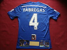 CHELSEA CESC FABREGAS GENUINE SIGNED HOME 2014/15 SHIRT- SMALL- NEW- EXACT PROOF