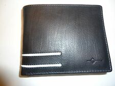 Buxton RFID Genuine Leather ID Billfold Wallet, Black