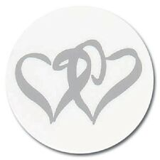 25 Silver Linked Heart Stickers Wedding Invitation Seals
