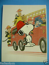 HAND PAINTED HANDPAINTED PEANUTS SNOOPY FIREFIGHTER CHARLIE BROWN ANIMATION CEL