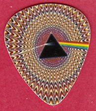 PSYCHEDELIC PINK FLOYD LOGO GUITAR PICK - GROOVY!! DARK SIDE OF THE MOON