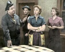 "CAST of THE HONEYMOONERS TELEVISION 1950s 8x10"" HAND COLOR TINTED PHOTOGRAPH"
