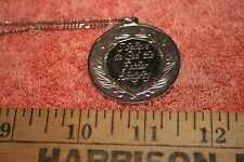 Vintage Sterling I Believe in God the Father Almighty Pendant Italy Necklace