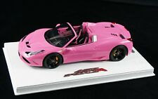 1/18 BBR FERRARI 458 SPECIALE A SPIDER GLOSS QATAR PINK DELUXE BASE LE 15 PCS MR