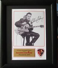 Eddie Cochran Preprinted Autograph & Guitar Pick Display Mounted & Framed #2
