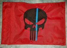 Custom Punisher Blue Lives Matter Safety Flag for jeep UTV ATV Trike