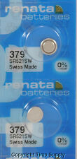 2 pc 379 Renata Watch Batteries SR521SW FREE SHIP 0% MERCURY