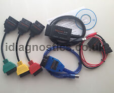 MULTIECUSCAN DIAGNOSTIC CABLE ALFA FIAT ELM + KKL VAG OBD2 + 3-PIN + 3x ADAPTERS