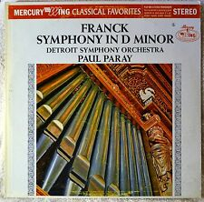 Paul Paray Franck Symphony in D Minor Mercury STEREO LP Vinyl NM Detroit Symph