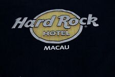 Hard Rock Cafe Macau T Shirt Large Black Yellow Grey Tagless Cotton