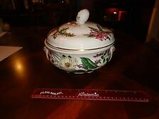 SPODE STAFFORD FLOWERS NEPETA ,PAEONIA & HYCINTHUS LARGE CASSEROLE COVERED DISH