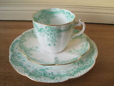Wileman Foley Shelley Lily Shape Fern Print 5896 Trio Cup Saucer Plate 1896