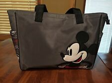 Disney Baby Mickey Mouse Diaper Bag Tote Baby Gray Black NWOT