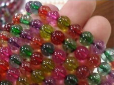 "8mm Multicolor Tourmaline Round Loose Beads 15"" AAA"