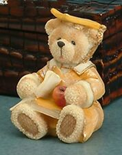GRADUATION Teddy Bear Diploma Cap Apple Book Miniature Gift Grads Desk Decor