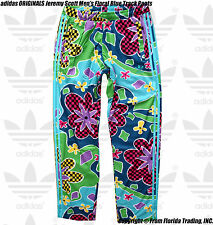 adidas ORIGINALS Jeremy Scott Men's Floral Blue Track Pants(L)Multi Color AC1823