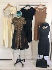 Vintage 1940s 1950s 1980s 8 Piece Lot Dress Hat Purse Cocktail Eveningwear