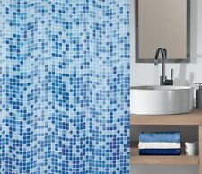 PEVA MOSAIC BATHROOM BATH SHOWER CURTAIN WATERPROOF INCLUDE 12 HOOKS 180X180CM