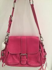 NEW ROOTS CANADA Pink Leather Handbag Tote