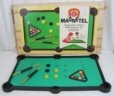 Vintage Mattel 1961 Magnetel Game Action Skill Skid Tac Toe 8 in 1 Parts