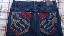 Rocawear denim blue jeans cotton mens W32 L32 32x32 baggy loose fit colorful