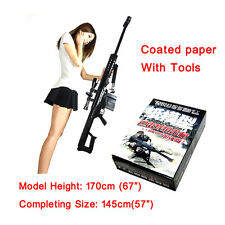 1:1 Paper Jigsaws 3D Puzzle For Barrett Sniper M82 Rifle Model Papercraft Toy