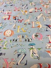 SANDERSON CURTAIN FABRIC ALPHABET ZOO By METRES  DK1936