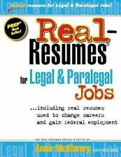 Real-Resumes for Legal and Paralegal Jobs by Anne McKinney (2012, Paperback)
