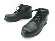 Red Wing Ankle Boots Womens 7.5 Wide Black Leather Steel Toe Lace Up Work Safety