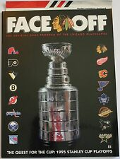 1995 Chicago Blackhawks Vancouver Canucks Playoff Program w/insert