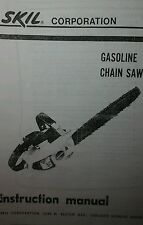 SKIL 1614 & 1616 Chain Saw Owner & Parts Manual (2 books) 14pg SKILSAW CHAINSAW
