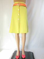 Womens Vtg Retro 70s Limo Front Buttons Pencil Classic Knee Skirt sz 16 18 AQ13