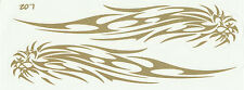 PLANCHE TUNING 2 AUTOCOLLANT STICKER TRIBAL LION OR GOLD DIMENSIONS 23,2 X 8,8CM