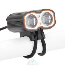 6000LM 2x CREE XM-L T6 LED Bici linterna Luz Faro de la bicicleta+USB Cargador