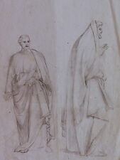 DISEGNO BOZZETTO DRAWING 1800 CHINA SU CARTA FIGURE SACRE