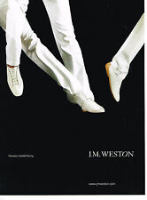 PUBLICITE ADVERTISING 114  2008  J.M  WINSTON  boutique chaussures homme RACING