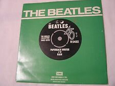 The Beatles 45 & Picture Sleeve from single collection-PAPERBACK WRITER/RAIN