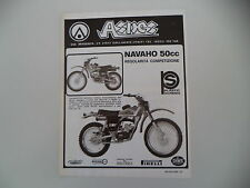 advertising Pubblicità 1977 MOTO ASPES NAVAHO 50