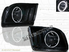 FORD MUSTANG 05-09 JDM BLACK HEADLIGHTS WITH SUPER WHITE CCFL HALO
